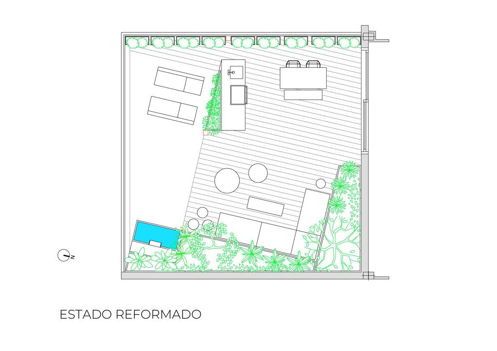 Terraza ático En Madrid